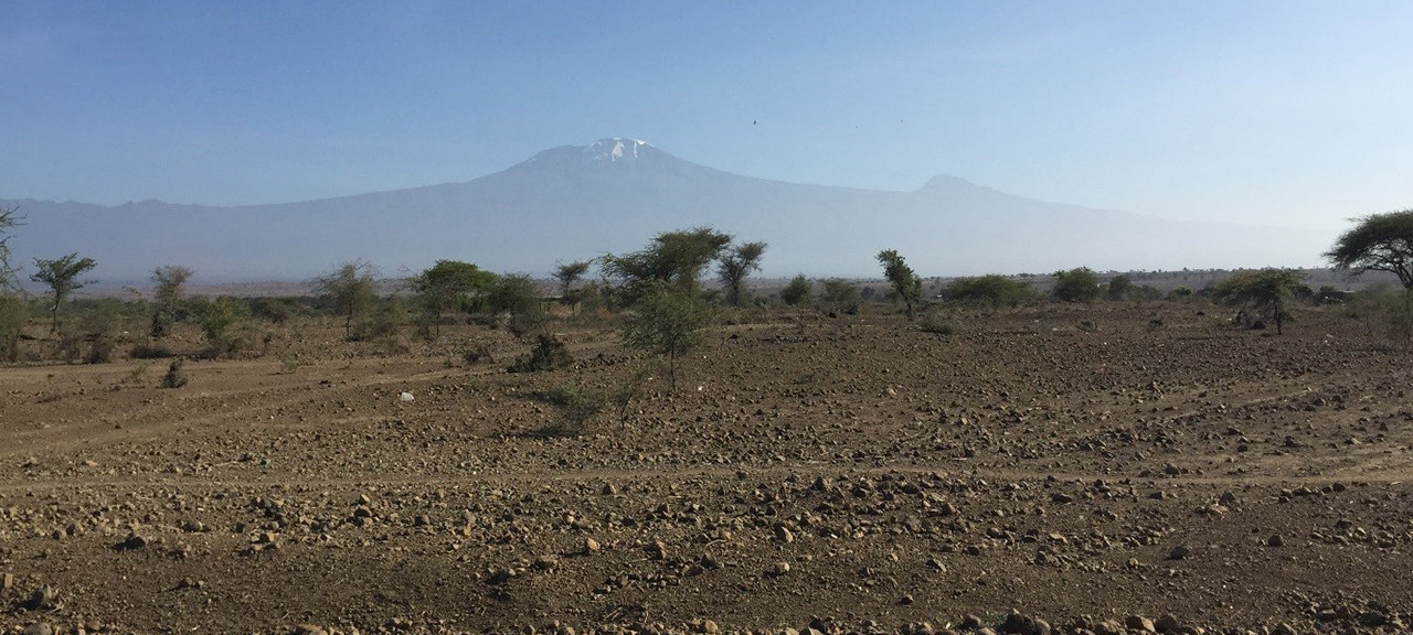 View from the access road with Mt. Kilimanjaro in the background | Photo: Jørn Stave, Multiconsult