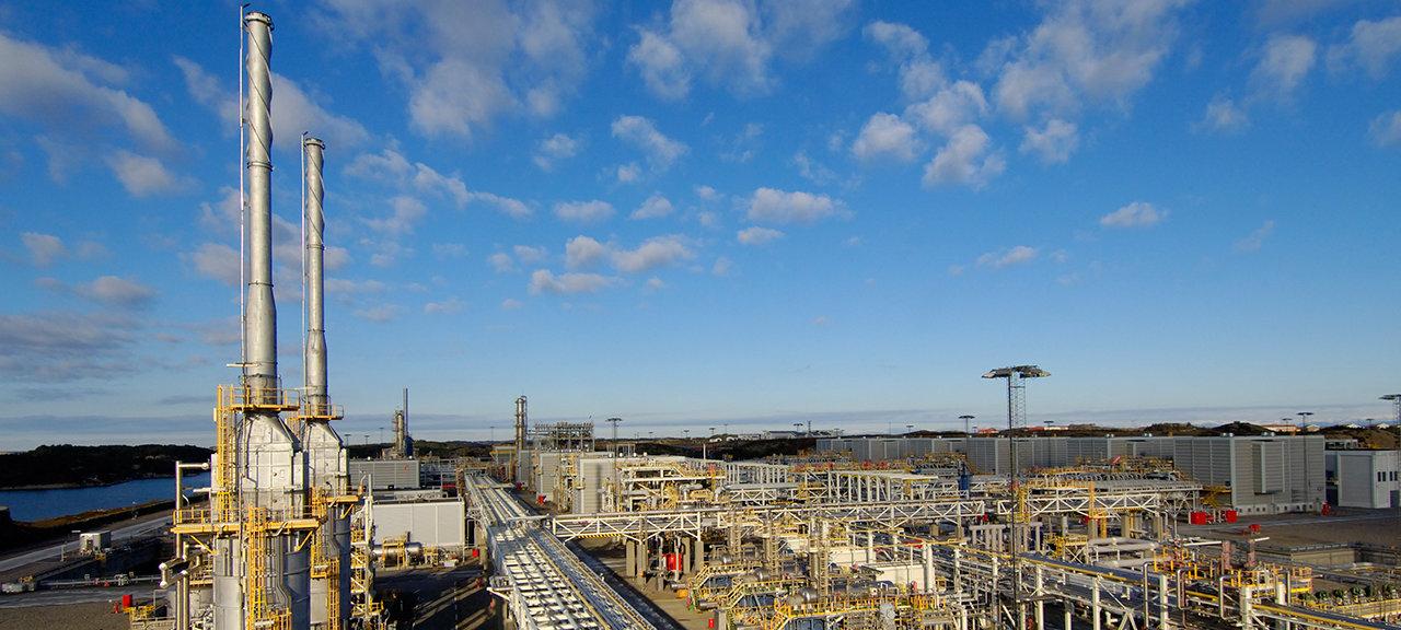 Kollsnes gassanlegg olje og gass