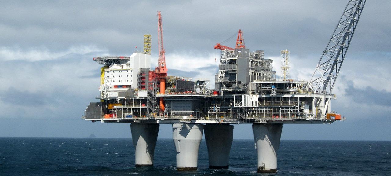 Troll A Plattform Olje og Gass Offshore Norskekysten